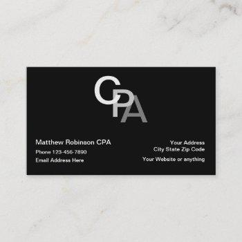 cpa accountant monogram style business card