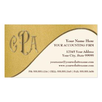 Small Cpa Certified Public Accountant Business Taxes Business Card Front View