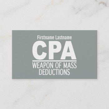 cpa custom business cards