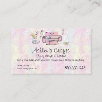 craft vinyl business card - silhouette cricut