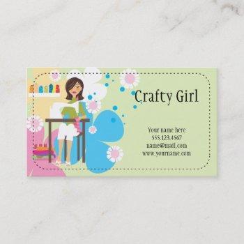 crafty girl business card