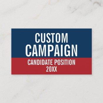 create your own campaign gear business card