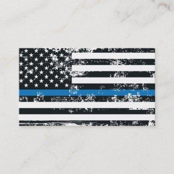 create-your-own diy thin blue line us flag business card