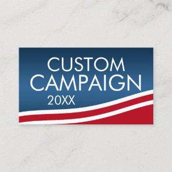 create your own election design business card