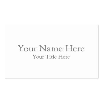 Small Create Your Own Euro Business Card Front View
