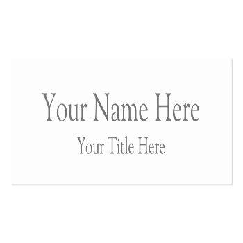 Small Create Your Own Mini Business Card Front View