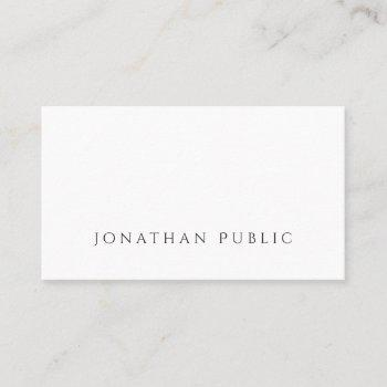 create your own minimalist beautiful plain luxury business card