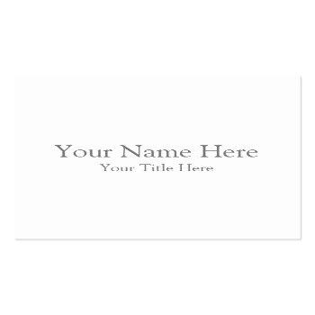 Small Create Your Own Square Business Card Front View