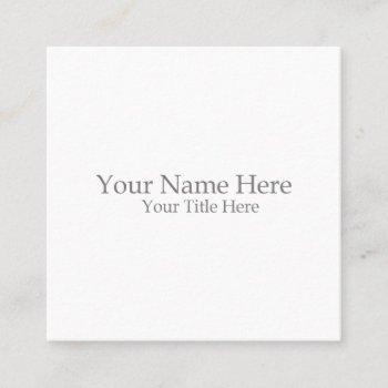 create your own square square business card