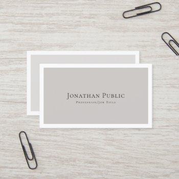 create your own stylish modern elegant plain business card