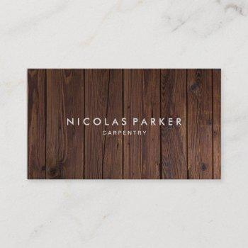 create your own wooden floor business card