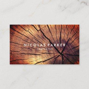 create your own wooden log business card