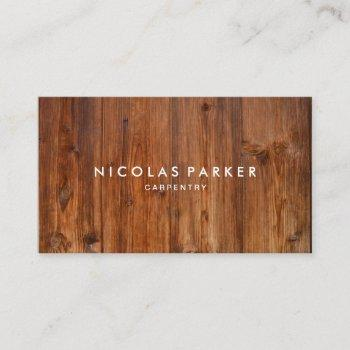 create your own wooden wall 3 business card