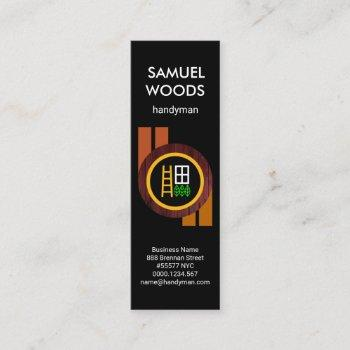 creative circular wood panel handyman mini business card