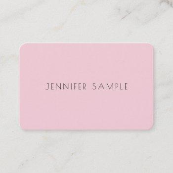 creative cute design pink professional plain luxe business card
