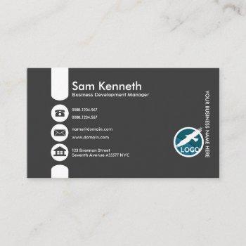 creative oversize buttons business development mgr business card