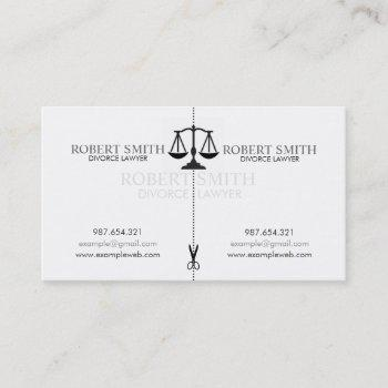 creative simple divorce lawyer business card