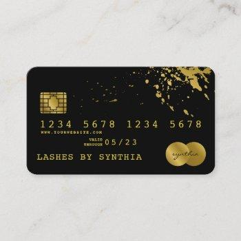 credit card styled black  gold