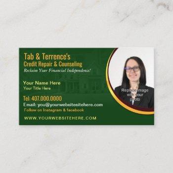 credit repair counseling business card template