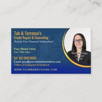 credit repair counseling business card template