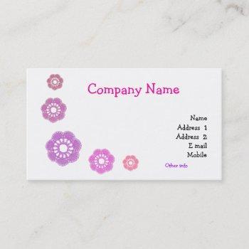 crochet simple business cards