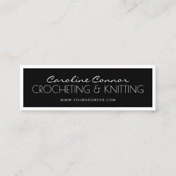 crocheting & knitting black & white bordered card