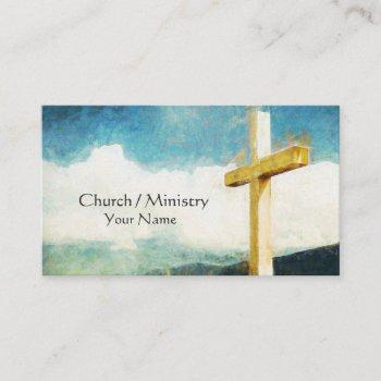 cross christian business card