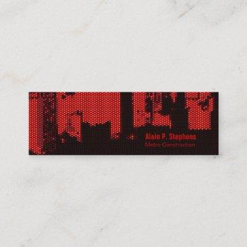 crowded upside downtown led horizontal skinny mini business card