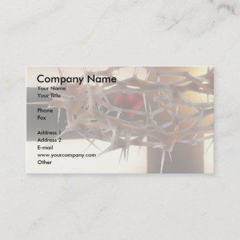 crown of thorns business card