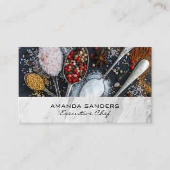 culinary arts | spices business card