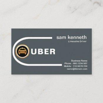curving destination roads professional taxi business card
