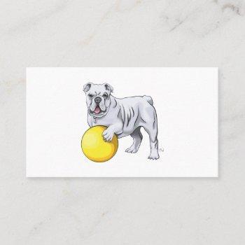 custom bulldog business cards
