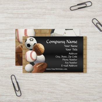 custom business card, design online sports theme business card