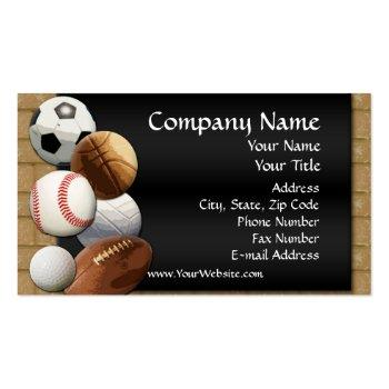 Small Custom Business Card, Design Online Sports Theme Business Card Front View