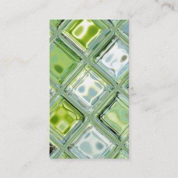 custom business cards with glass tile art