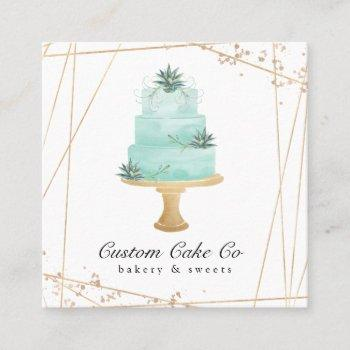 custom cakes bakery business card