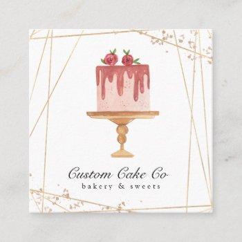 custom cakes bakery business card