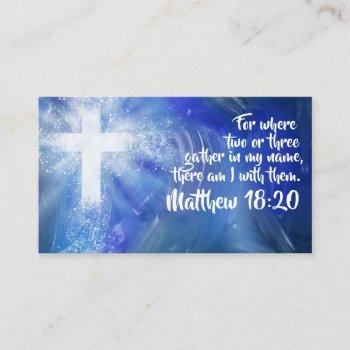 custom church business card
