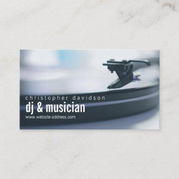 custom dj turntable business card