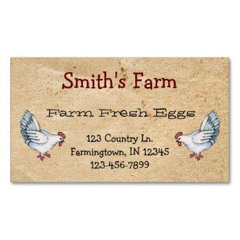 custom farm fresh eggs business card magnet