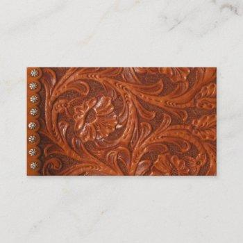custom image of leather business card