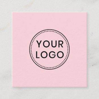 custom logo, any color, square business cards