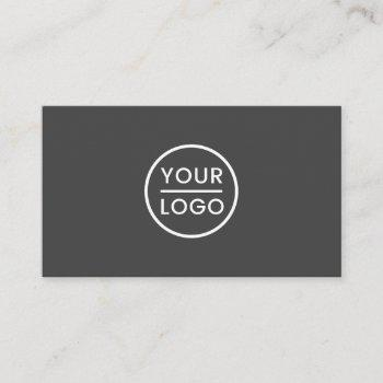 custom logo business cards - modern, gray, white