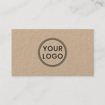 custom logo kraft paper business cards