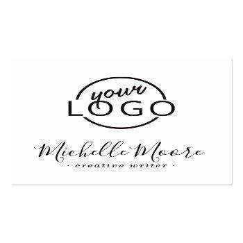 Small Custom Logo Modern Feminine Minimalist Kraft Paper Square Business Card Front View