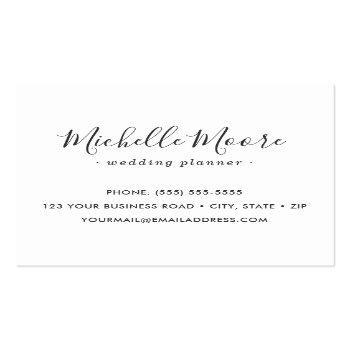 Small Custom Logo Modern Feminine Minimalist White Square Business Card Back View
