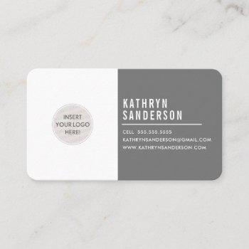 custom logo modern minimal simple gray white business card