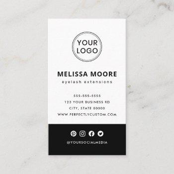 custom logo modern minimalist black and white business card