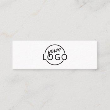 custom logo modern minimalist mini business card
