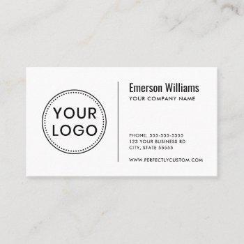 custom logo modern minimalist white or any color business card